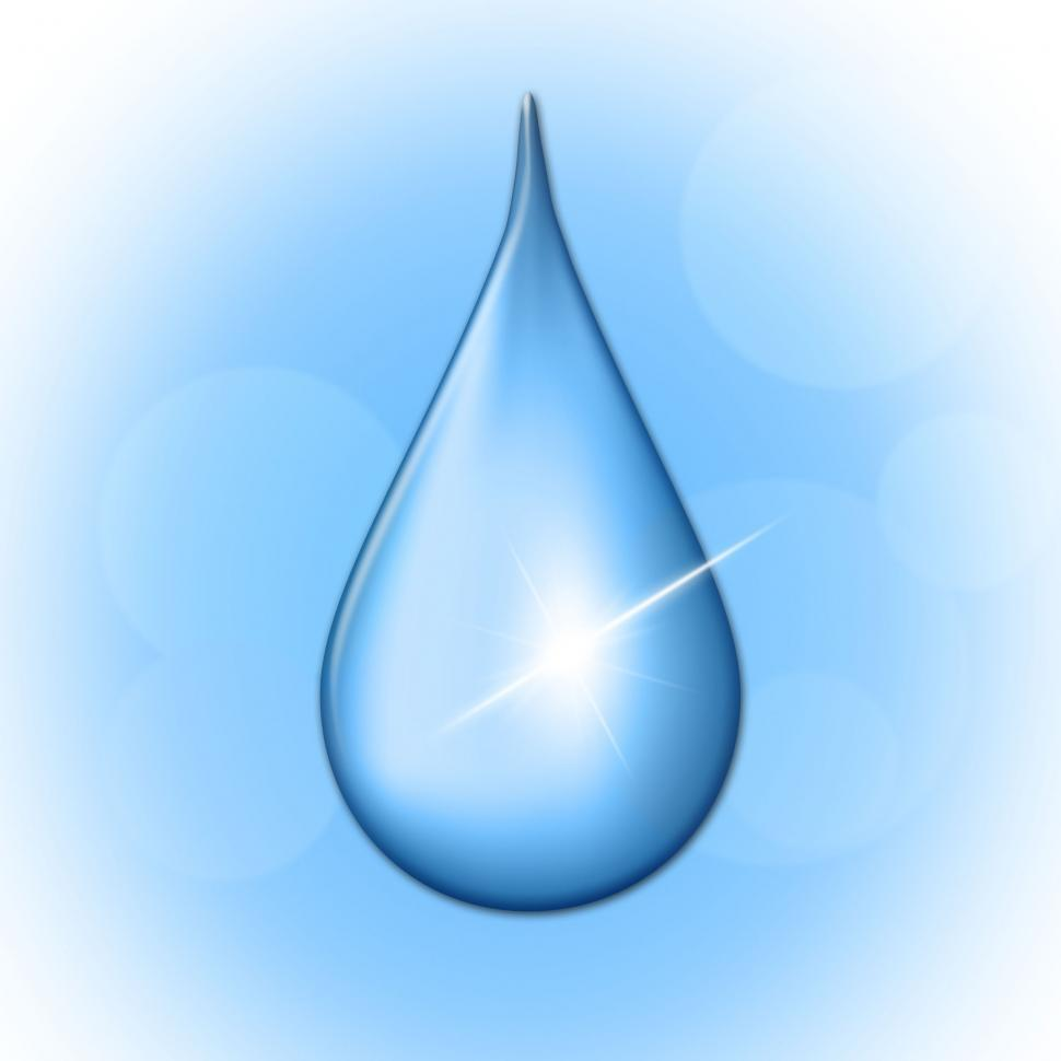 Download Free Stock Photo of Rain Drop Shows Liquid Wet And Water