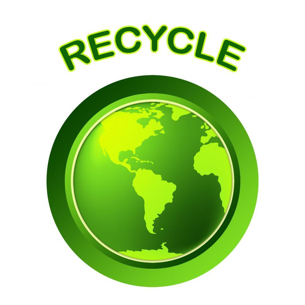 Download Free Stock HD Photo of World Recycle Shows Eco Friendly And Conservation Online
