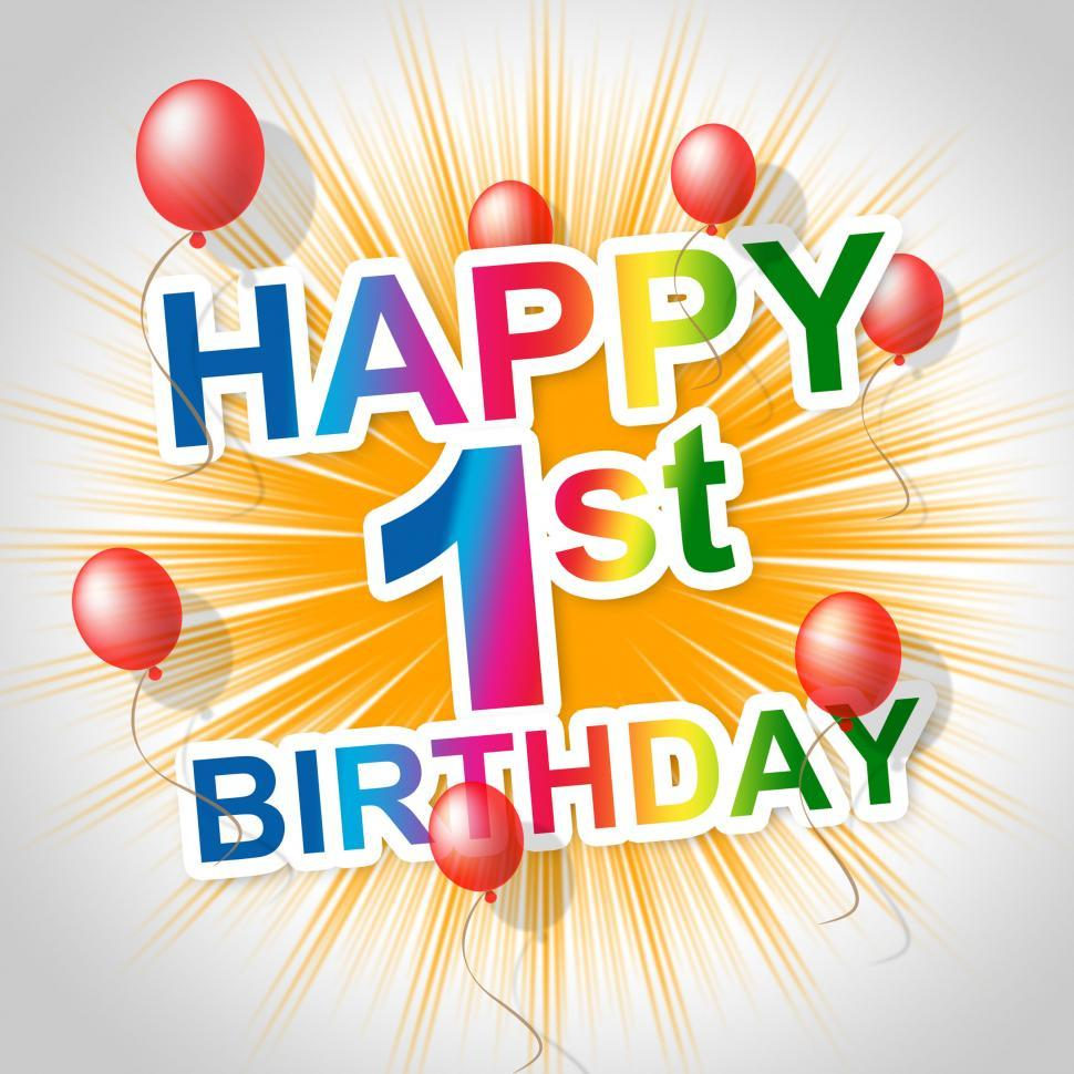 Download Free Stock HD Photo of Happy Birthday Means First Party And Joy Online