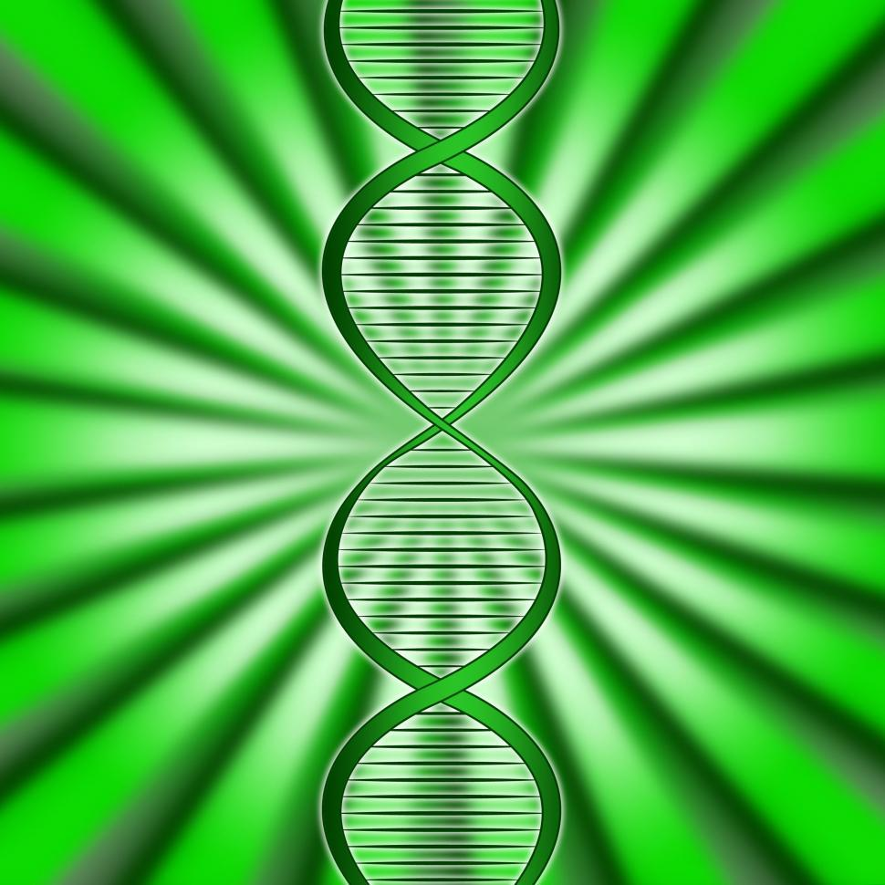 Download Free Stock Photo of Green Dna Means Biotech Biotechnology And Gene