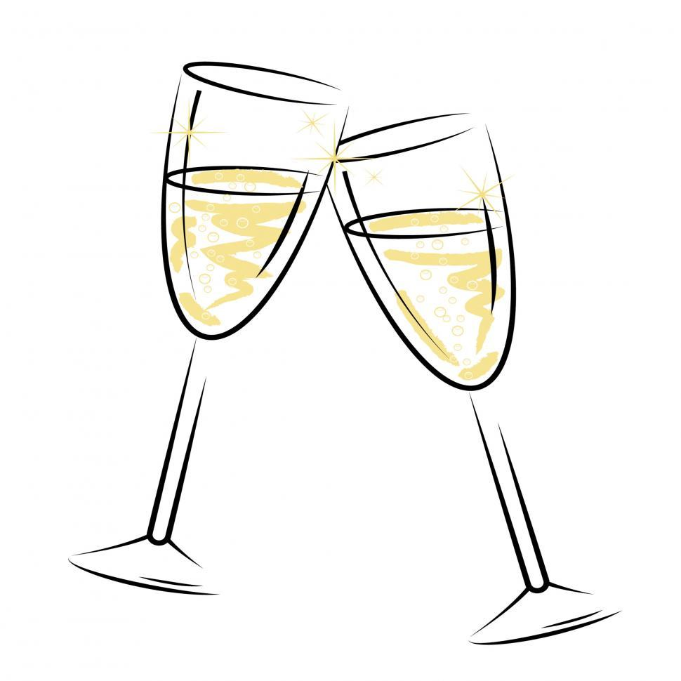 Download Free Stock HD Photo of Champagne Glasses Represents Sparkling Wine And Alcohol Online