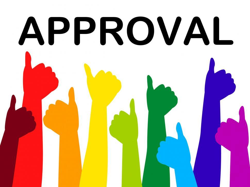 Download Free Stock HD Photo of Thumbs Up Means Approved Recommend And Passed Online