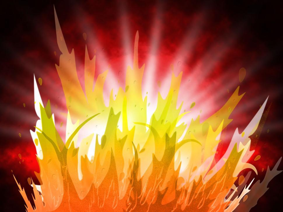 Download Free Stock Photo of Fire Background Represents Fiery Inferno And Design