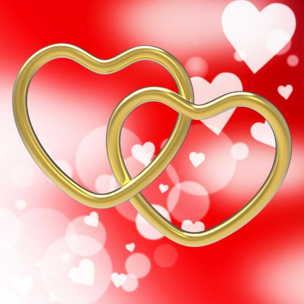 Download Free Stock HD Photo of Wedding Rings Represents Valentine s Day And Eternity Online