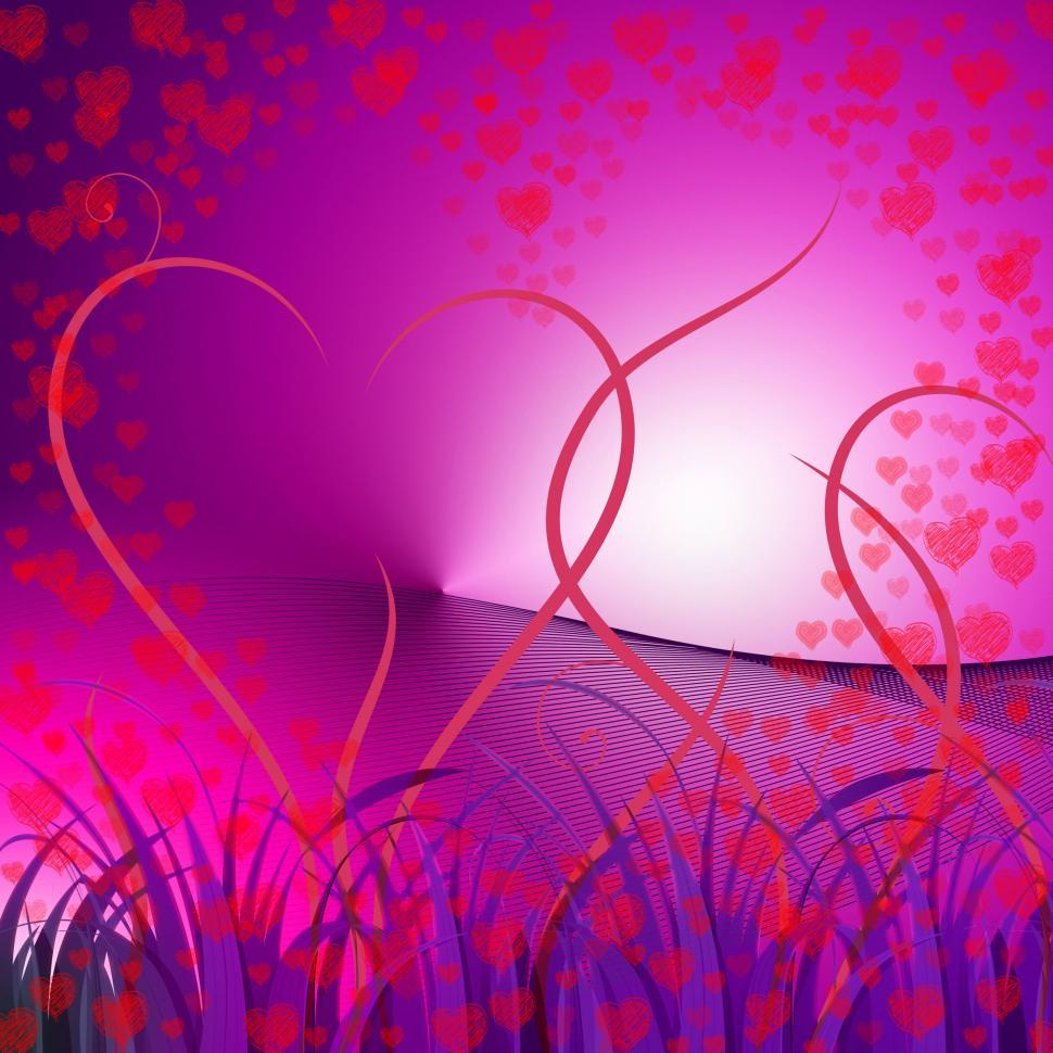 Download Free Stock HD Photo of Floral Hearts Indicates Valentines Day And Affection Online