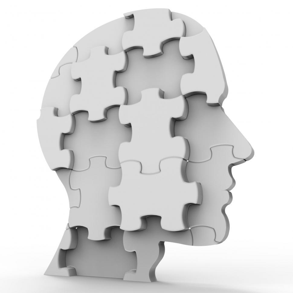 Download Free Stock HD Photo of Head Planning Means Jigsaw Puzzle And Goal Online