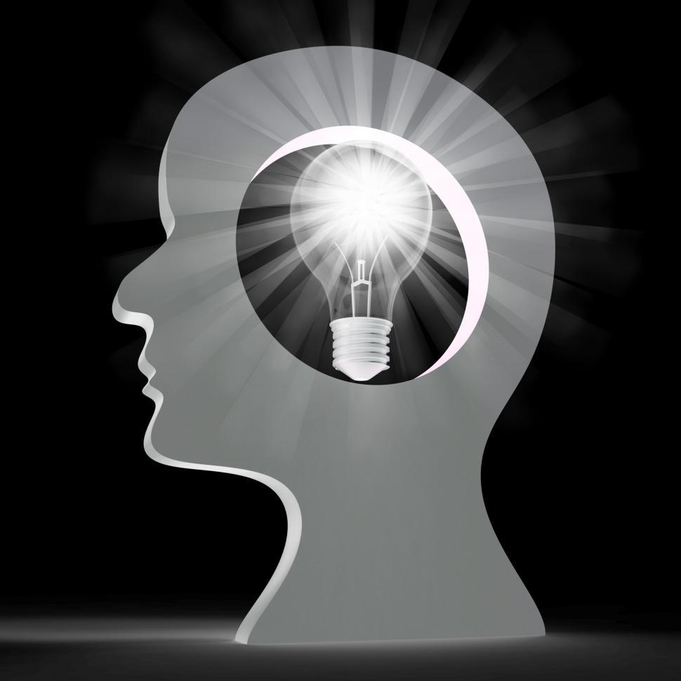 Download Free Stock HD Photo of Light Bulb Shows Think About It And Creativity Online