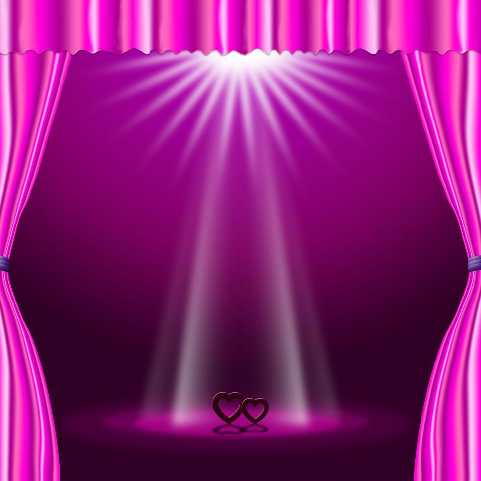 Download Free Stock HD Photo of Stage Spotlight Means Valentine Day And Affection Online