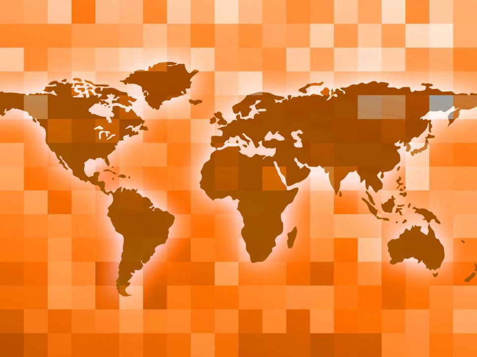 Download Free Stock Photo of World Map Indicates Countries Backdrop And Template