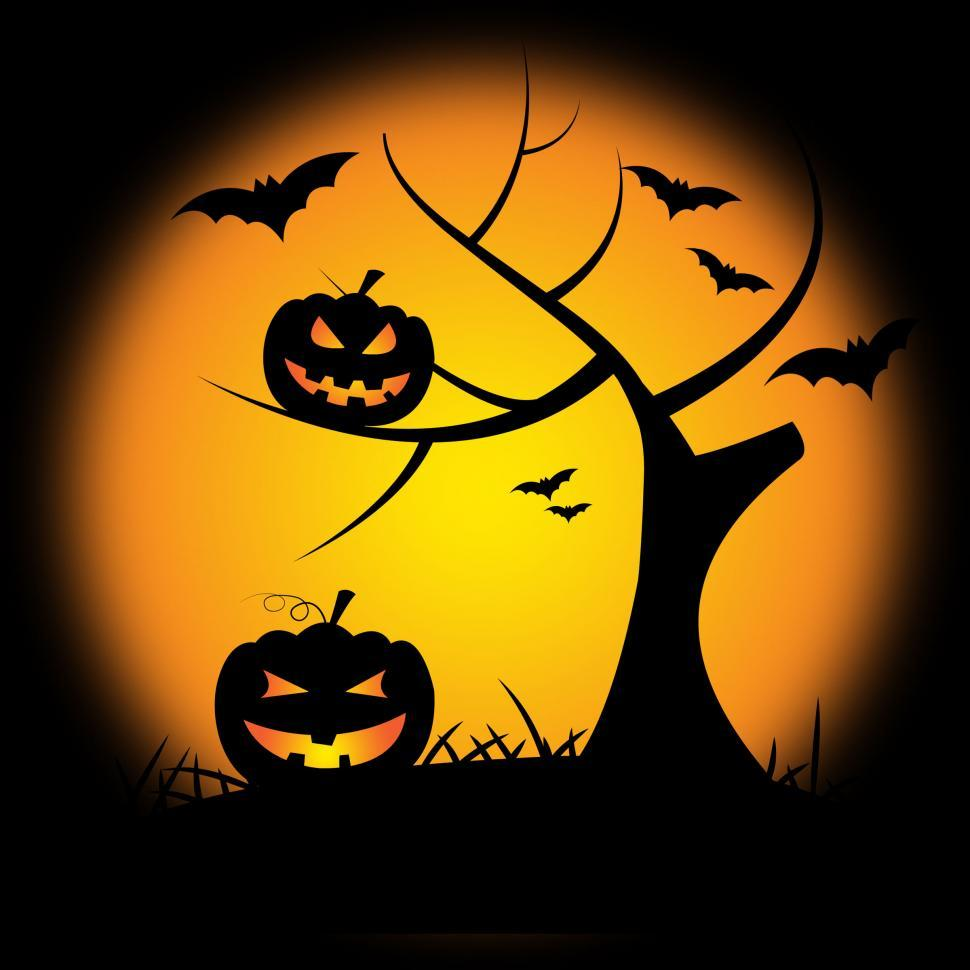 Download Free Stock Photo of Pumpkin Halloween Represents Trick Or Treat And Environment
