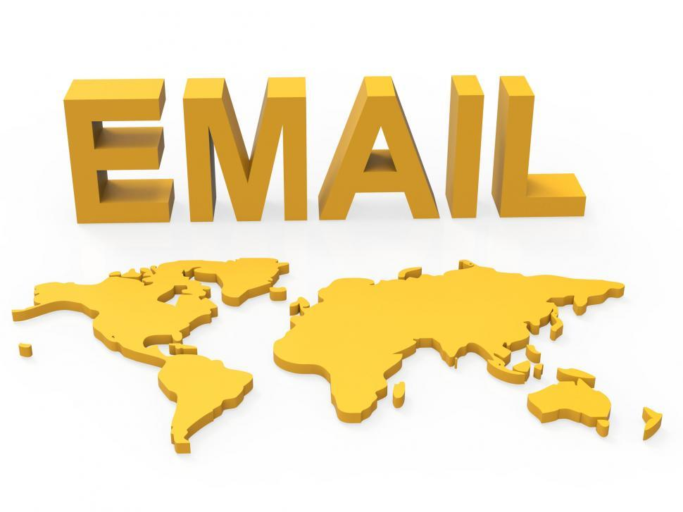 Download Free Stock HD Photo of World Email Shows Send Message And Earth Online