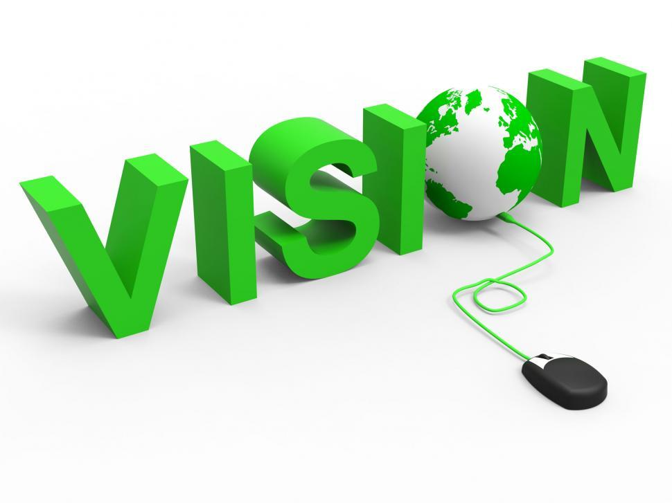 Download Free Stock HD Photo of Vision Planning Indicates World Wide Web And Searching Online