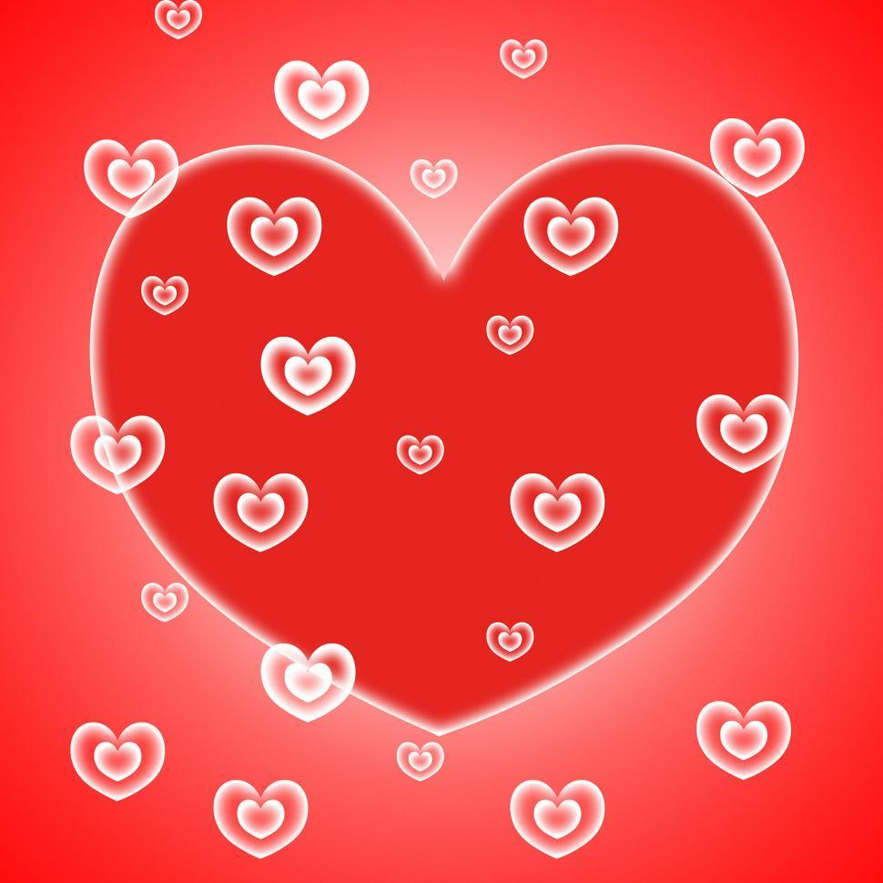 Download Free Stock HD Photo of Background Hearts Represents Valentines Day And Abstract Online
