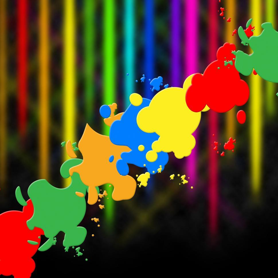 Download Free Stock Photo of Paint Splash Means Splat Splashed And Design
