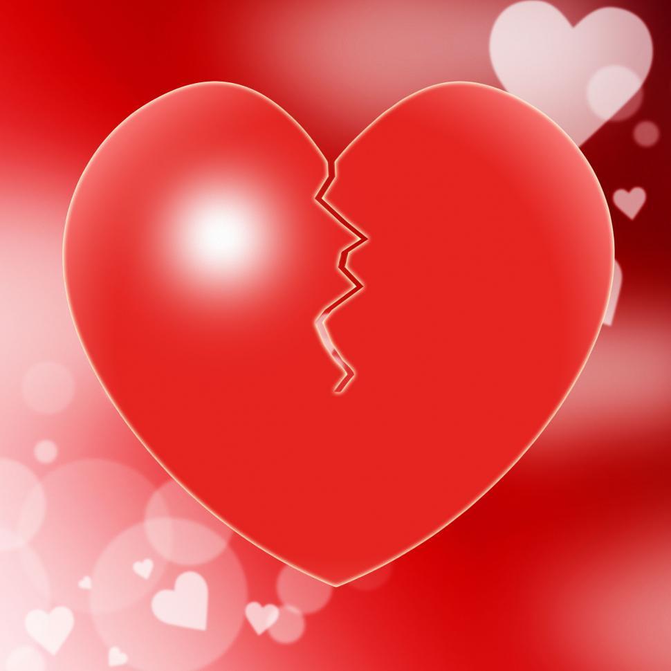 Download Free Stock Photo of Broken Heart Represents Valentine Day And Break