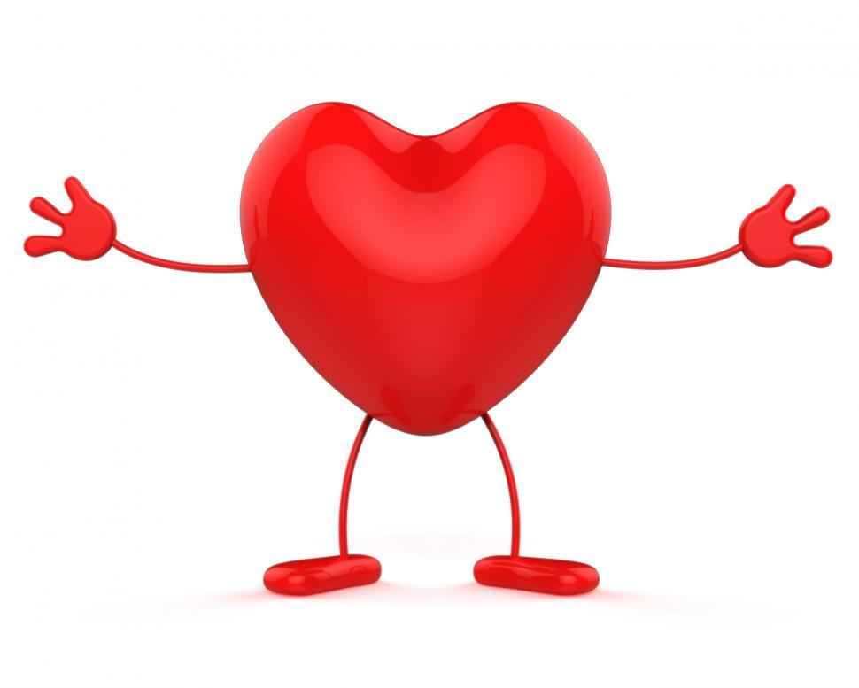 Download Free Stock Photo of Character Healthcare Shows Valentine Day And Affection