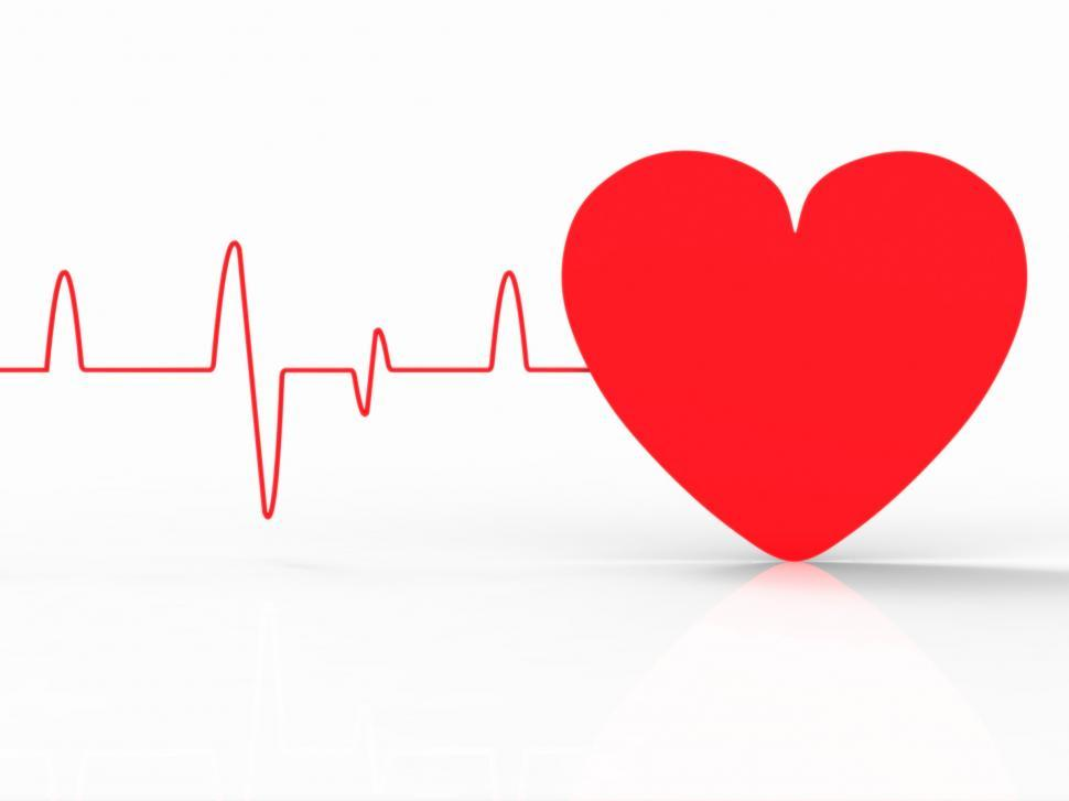 Download Free Stock HD Photo of Heart Pulse Indicates Empty Space And Beat Online