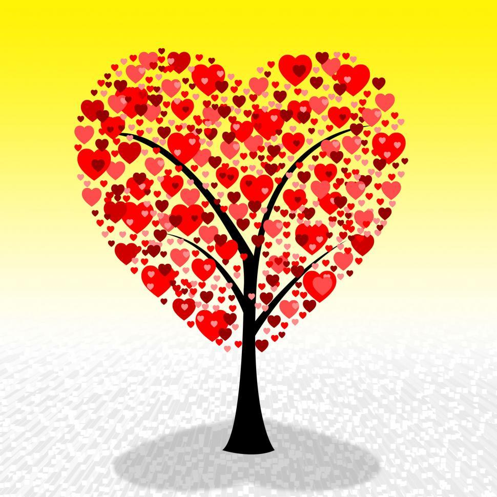 Download Free Stock HD Photo of Tree Hearts Represents Valentine Day And Environment Online