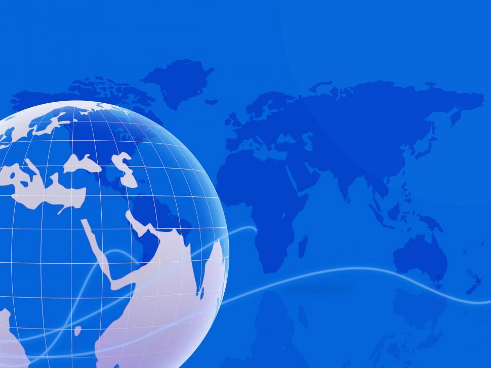 Download Free Stock HD Photo of World Map Indicates Backgrounds Globalization And Globalise Online