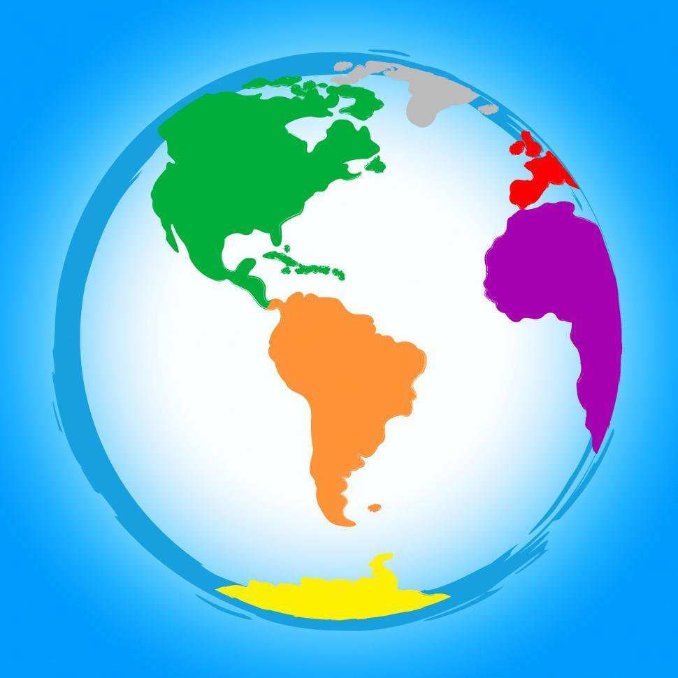 Download Free Stock Photo of World Globe Represents Colors Earth And Colour