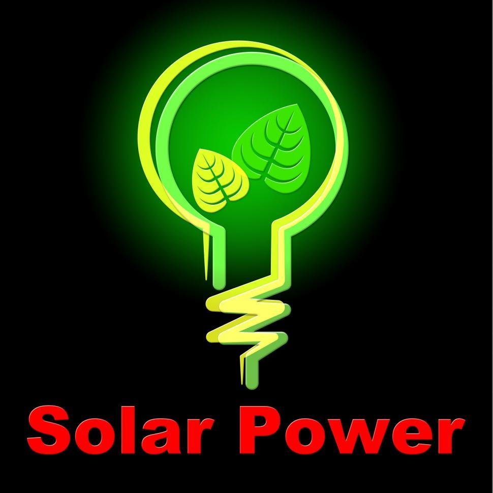 Download Free Stock HD Photo of Solar Power Represents Alternative Energy And Countryside Online