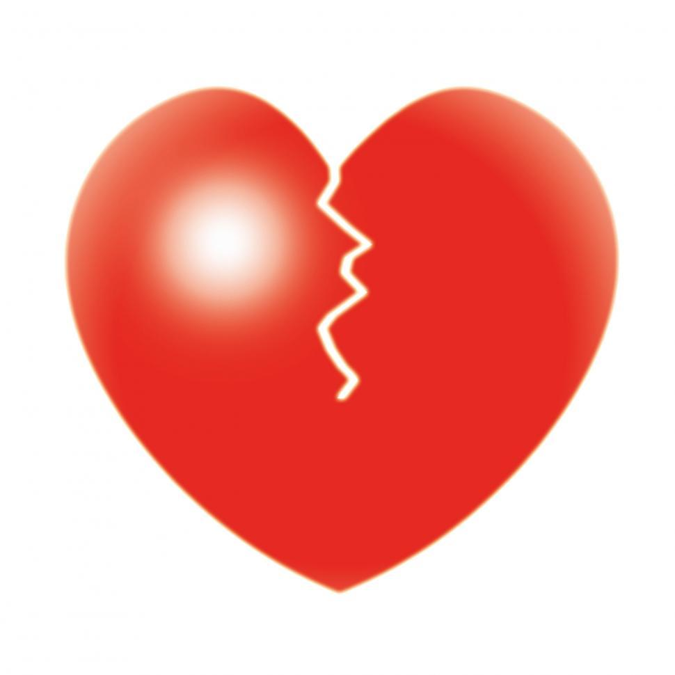 Download Free Stock Photo of Broken Heart Shows Valentine s Day And Broken-Heart