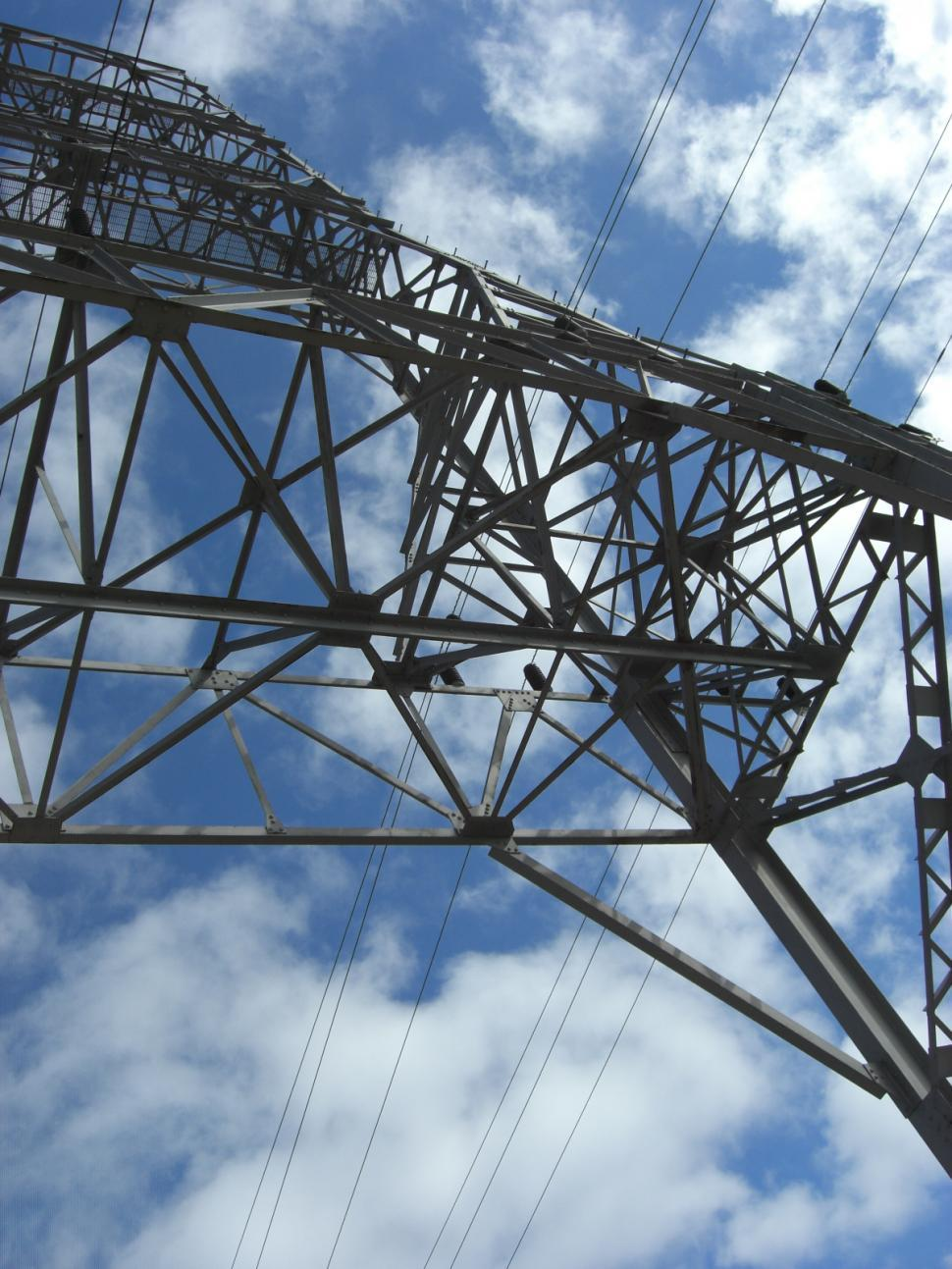 Download Free Stock Photo of Power Lines/Transformers
