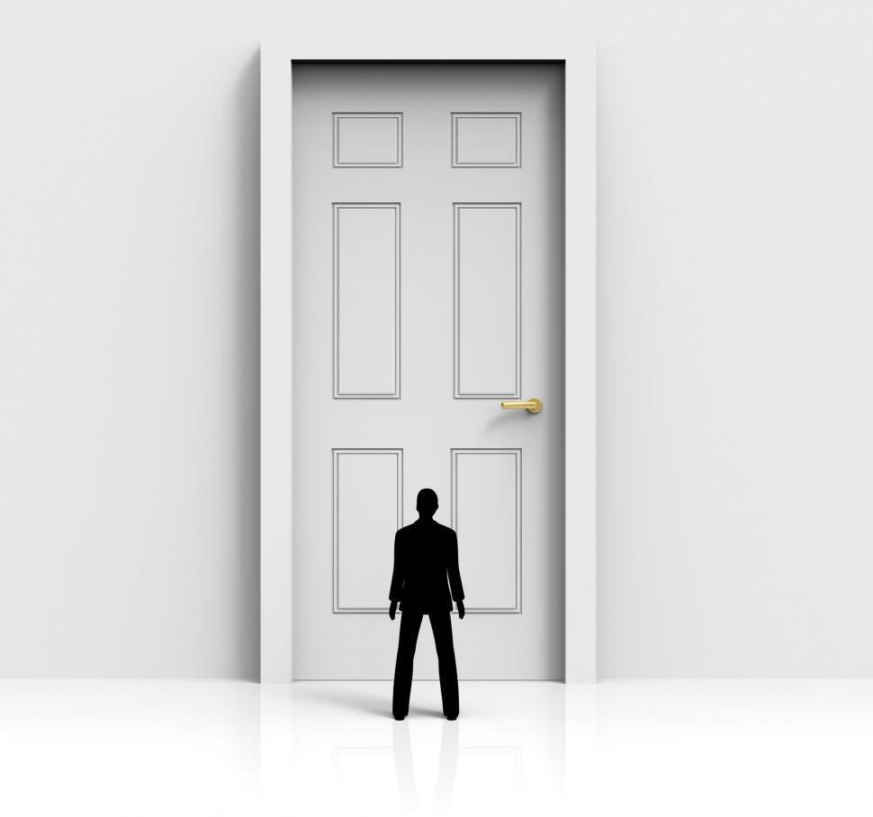 Download Free Stock HD Photo of Door Mystery Shows Confused Wondering And Doorways Online
