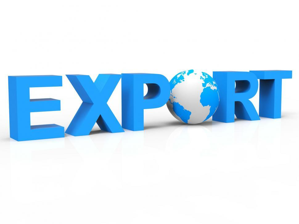 Download Free Stock Photo of Globe Export Represents Sell Overseas And Exported