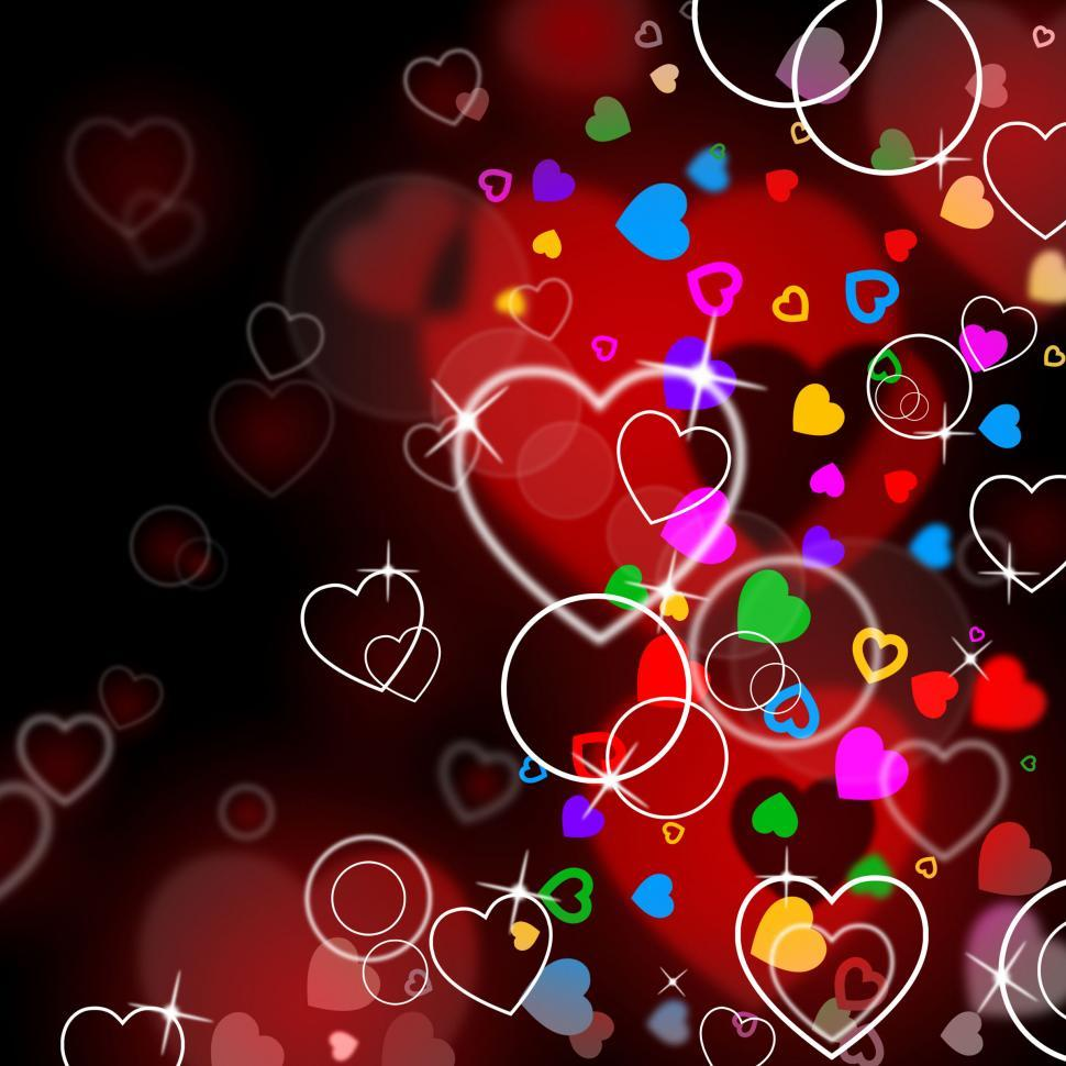 Download Free Stock Photo of Heart Background Indicates Backgrounds Affection And Passion