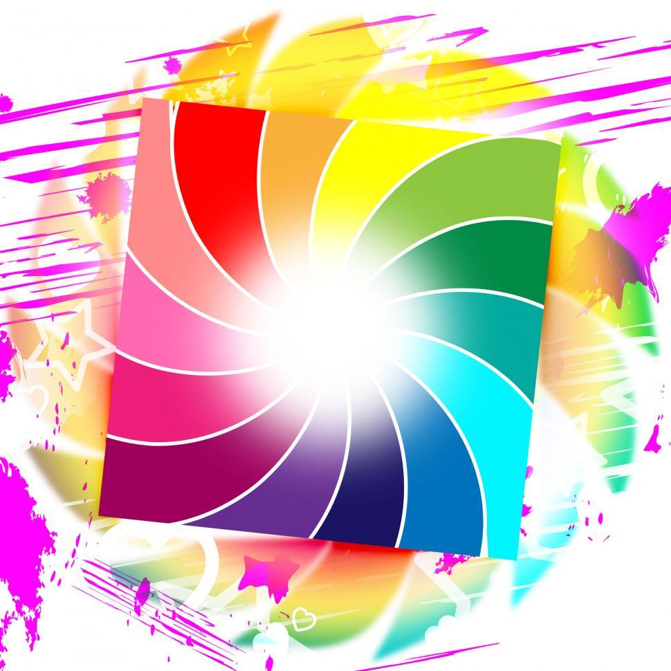 Download Free Stock Photo of Background Spiral Represents Swirl Colorful And Colors