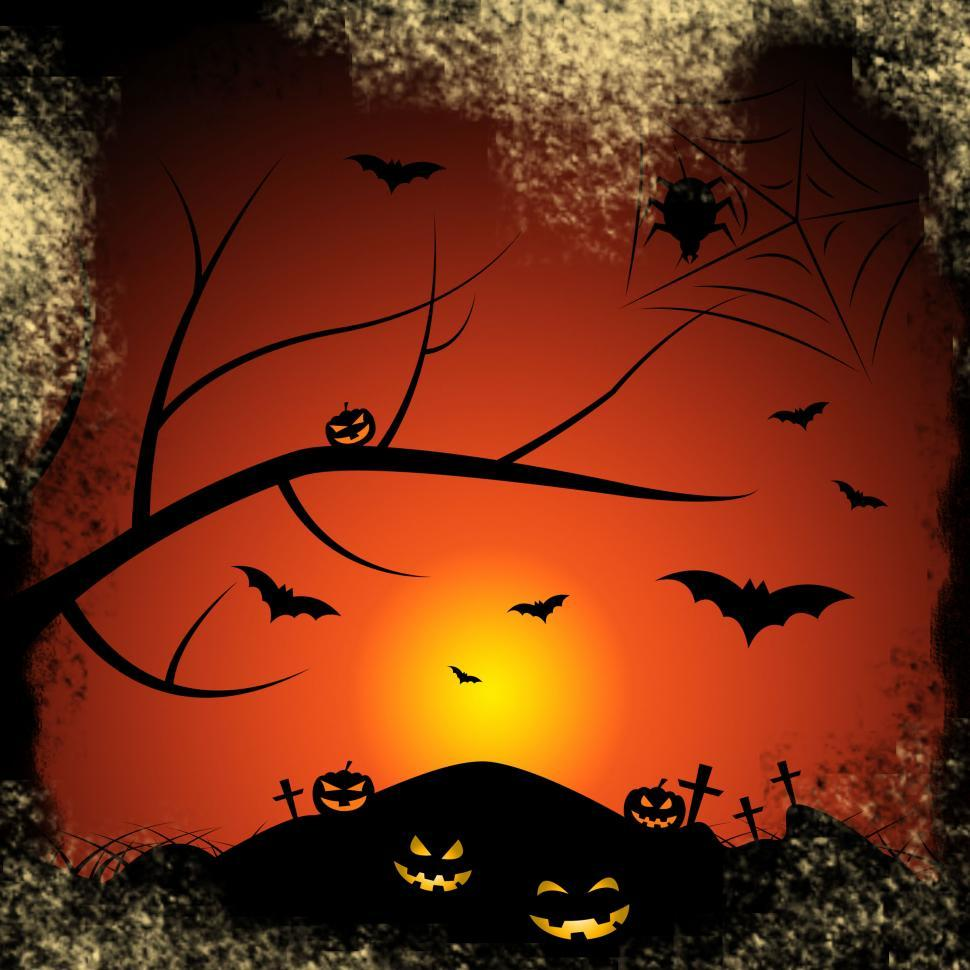 Download Free Stock Photo of Halloween Bats Represents Trick Or Treat And Autumn