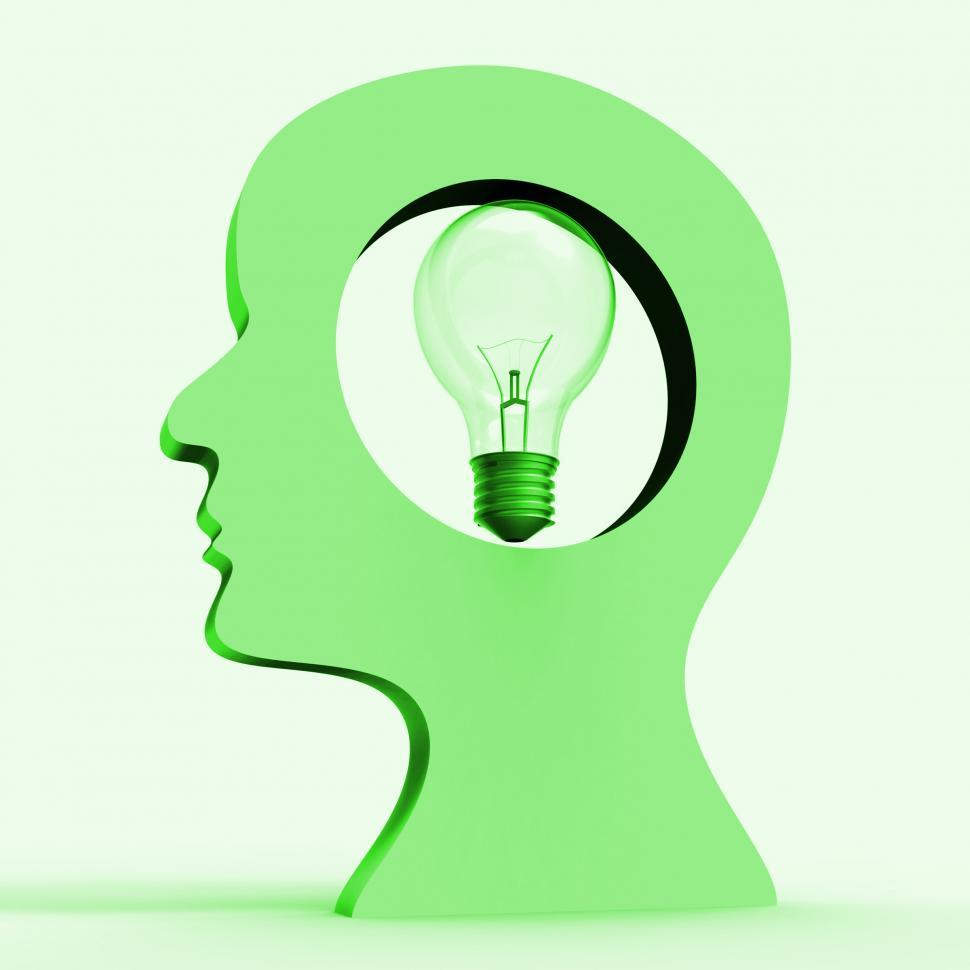 Download Free Stock Photo of Light Bulb Indicates Think About It And Considering