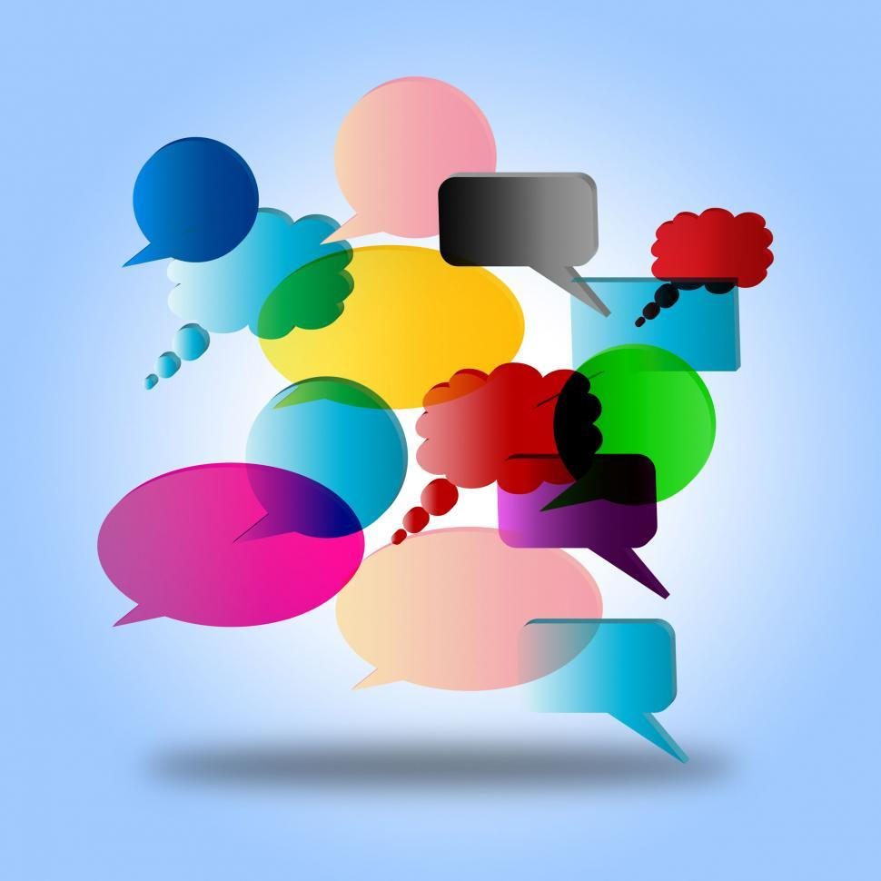 Download Free Stock Photo of Speech Bubble Indicates Speak Dialogue And Speaking
