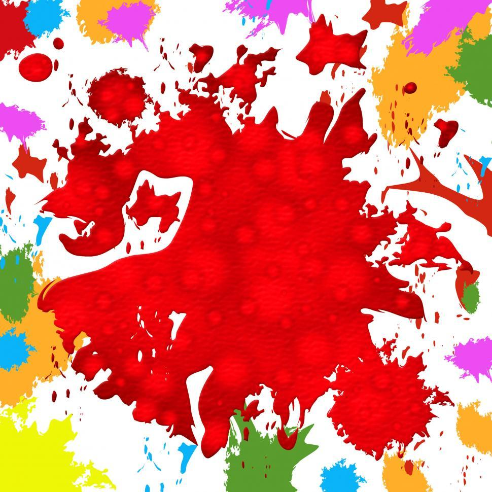 Download Free Stock Photo of Paint Background Represents Colorful Splat And Color