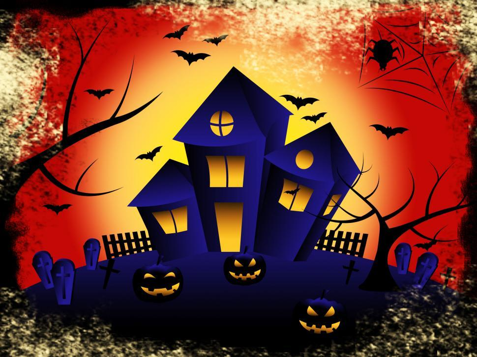 Download Free Stock HD Photo of Haunted House Shows Trick Or Treat And Celebration Online