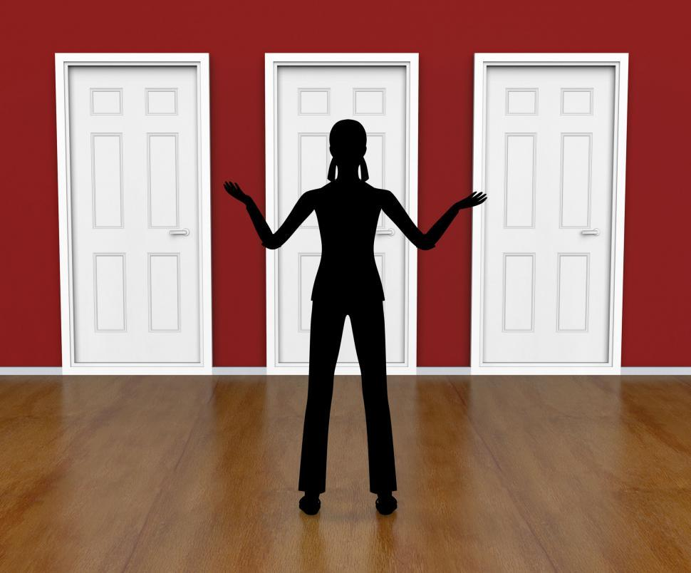 Download Free Stock HD Photo of Silhouette Doors Means Doorways Direction And Choose Online