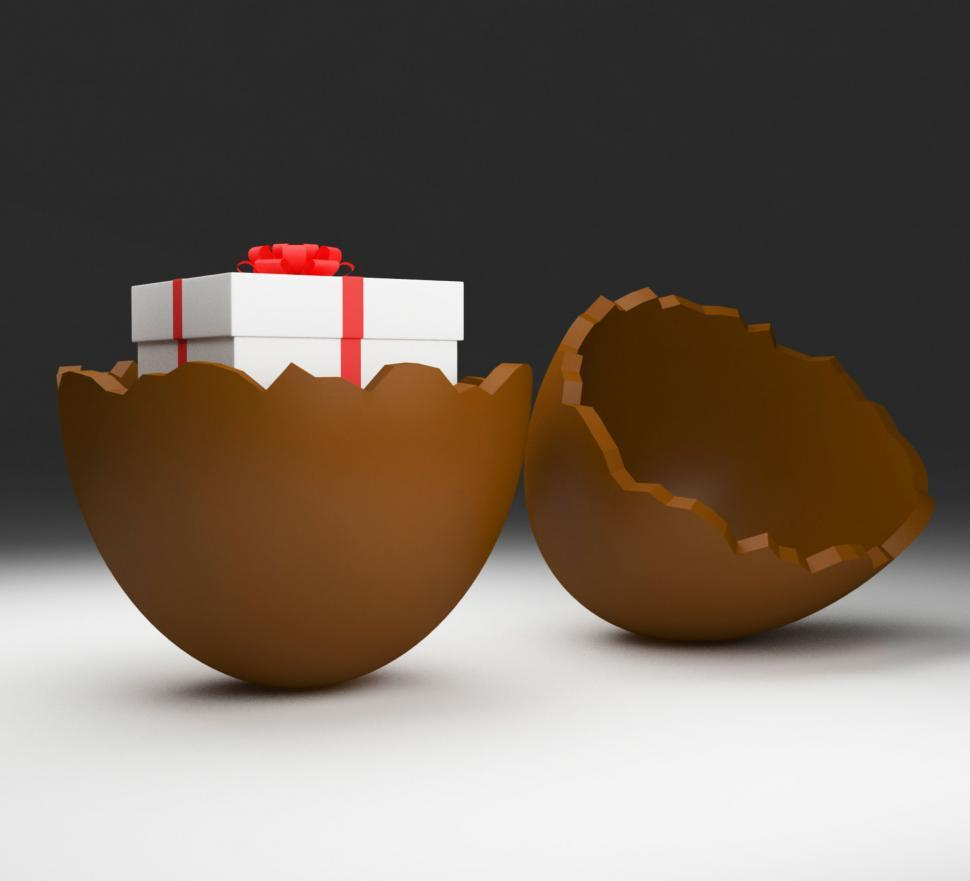Download Free Stock Photo of Easter Egg Shows Gifts Candy And Gift