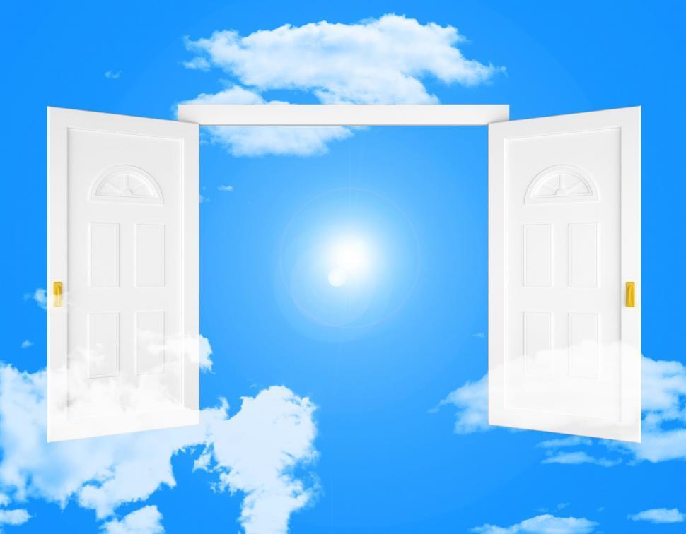 Download Free Stock Photo of Sky Doorway Shows Doorways Doors And Eternity