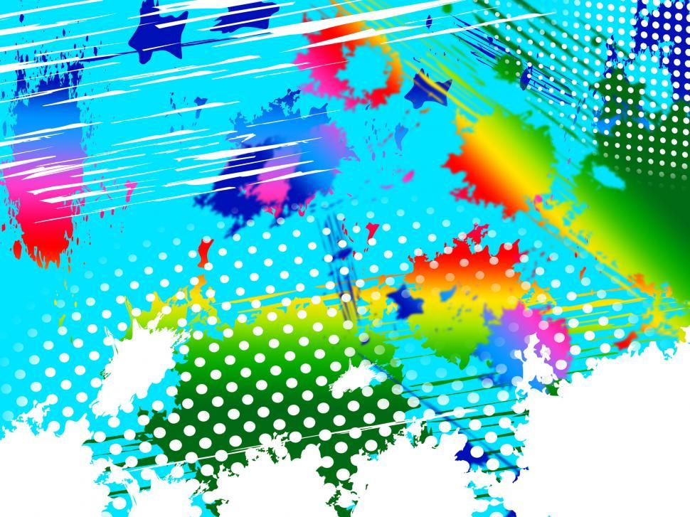 Download Free Stock HD Photo of Paint Splash Means Colorful Splashed And Spectrum Online