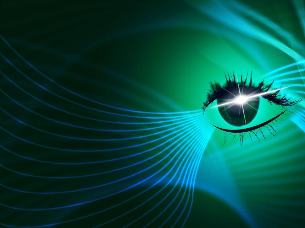 Download Free Stock HD Photo of Eye Tech Represents Blazing Look And Iris Online