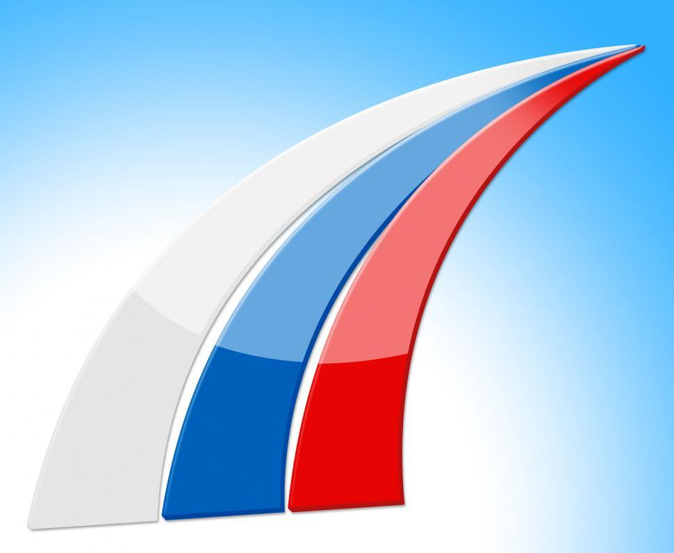 Download Free Stock Photo of Russia Flag Means Patriotism Countries And Country