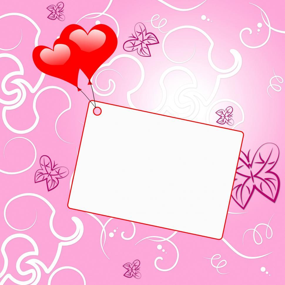 Download Free Stock Photo of Heart Tag Shows Blank Space And Hearts