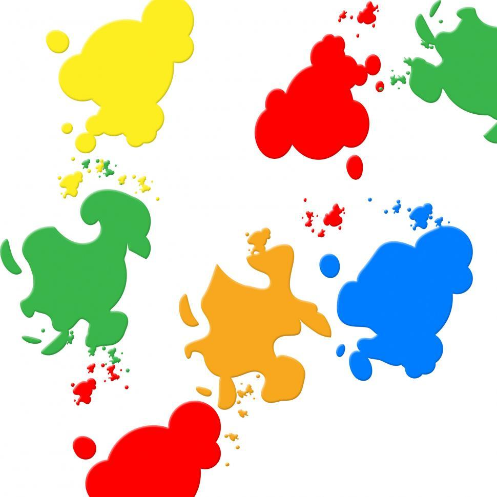 Download Free Stock Photo of Background Colors Indicates Blots Backdrop And Spatter