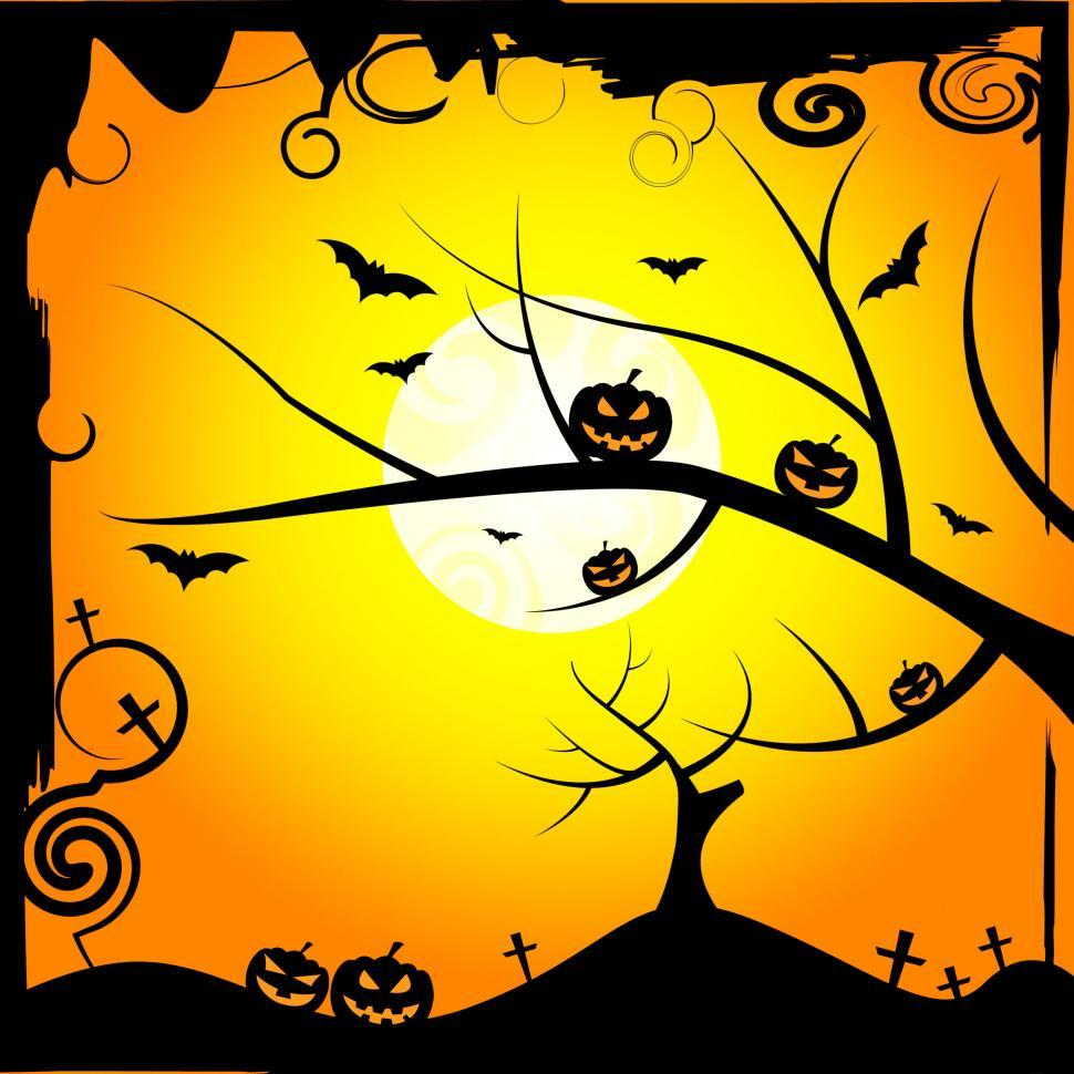 Download Free Stock Photo of Sun Tree Means Trick Or Treat And Branch