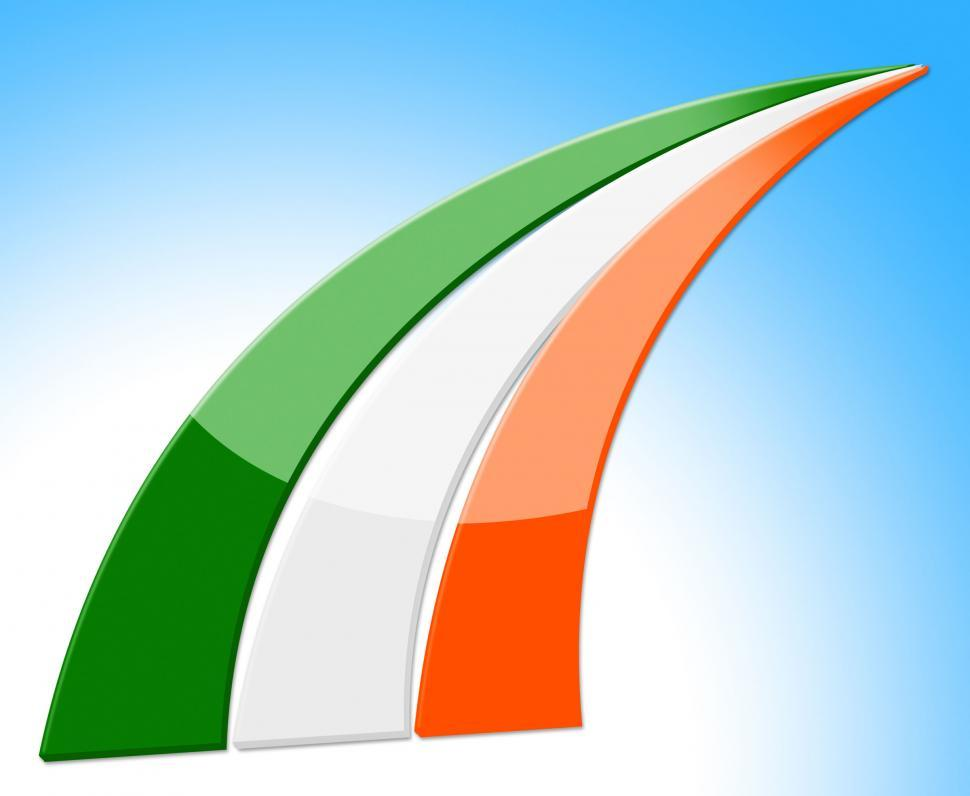 Download Free Stock Photo of Flag Stripes Means National Nation And Ireland