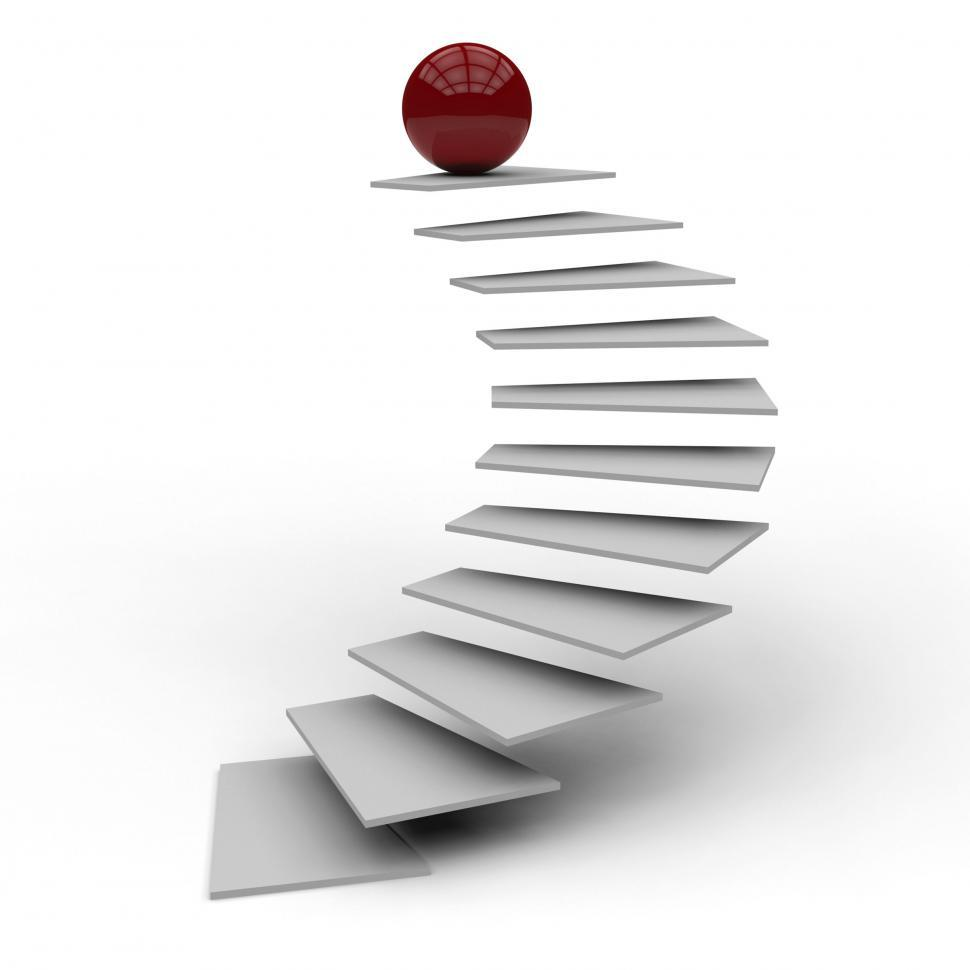 Download Free Stock HD Photo of Success Top Means Staircase Upstairs And Resolution Online