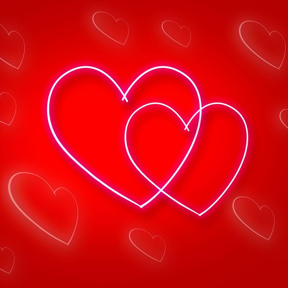 Download Free Stock HD Photo of Intertwinted Hearts Shows Valentine s Day And Background Online