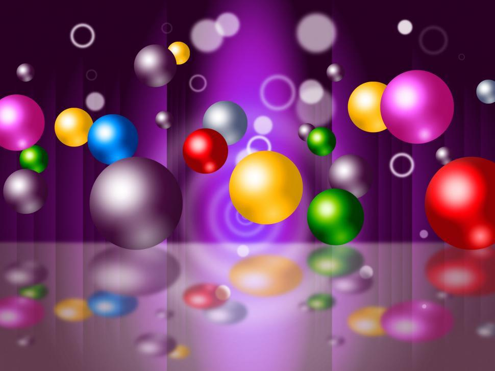 Download Free Stock HD Photo of Sphere Bouncing Represents Colourful Spheres And Vibrant Online