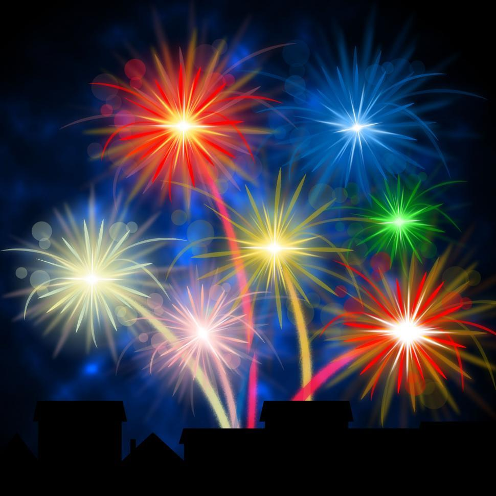 Download Free Stock HD Photo of Color Fireworks Shows Explosion Background And Celebration Online